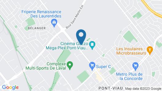 Motel Newstar Laval Map