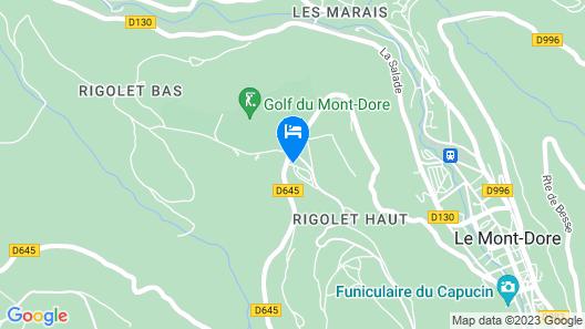 Les Cabanes de la Plage Verte Campsite Map
