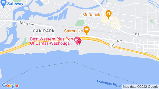 Best Western Plus Port of Camas - Washougal Convention Center Map