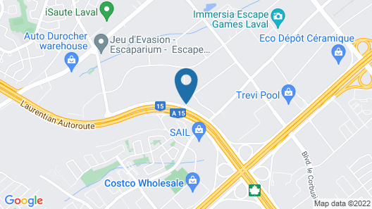Best Western Laval-Montreal Map