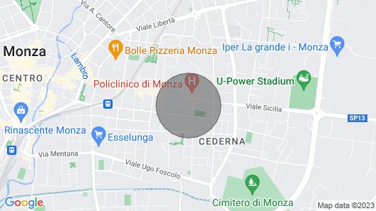 THE Villa DEL Cedro Monza Map