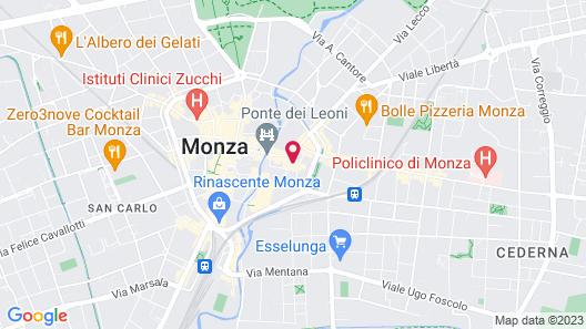 Monza City Rooms & Studios Map