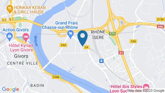 Kyriad Direct Lyon Sud - Chasse Sur Rhône Map