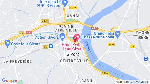 Kyriad Lyon Sud - Givors Map