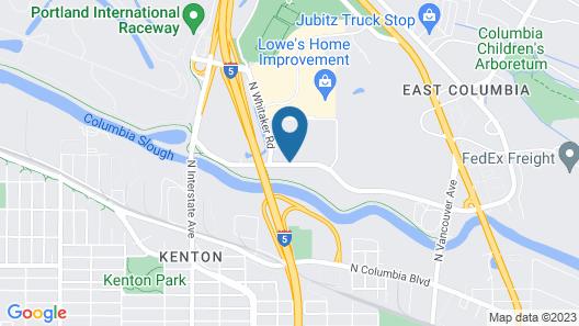 Motel 6 Portland, OR - North Map