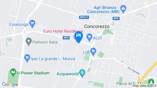 Euro Hotel Residence Map
