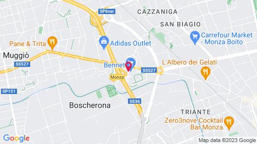 B&B Hotel Milano - Monza Map