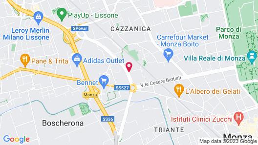 Helios Hotel Monza Map