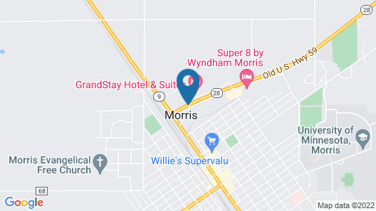 Grandstay Hotel And Suites Morris Map