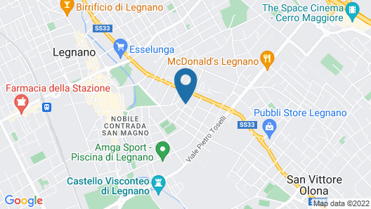 Welcome Hotel Legnano Map