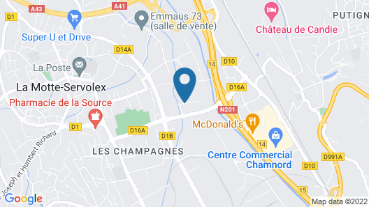 HôtelF1 Chambéry Nord Rénové Map