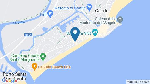 Hotel Rosa Caorle Map