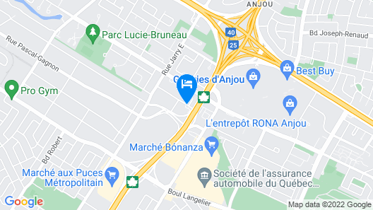 Quality Hotel & Suites Montreal East Map