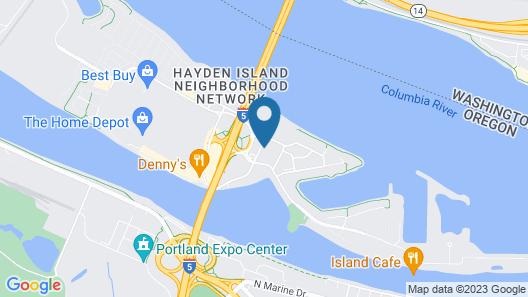 Oxford Suites Portland - Jantzen Beach Map