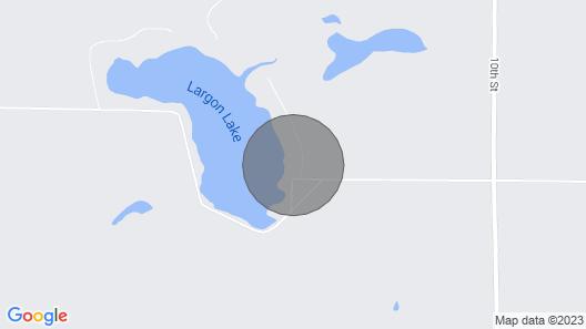Warm & Cozy Cabin W/dock & Fire Pit on Largon Lake Map