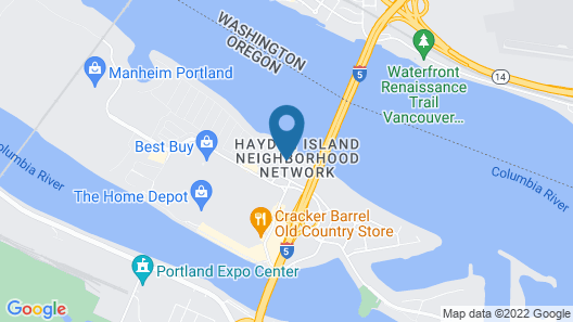 Rodeway Inn & Suites Portland - Jantzen Beach Map