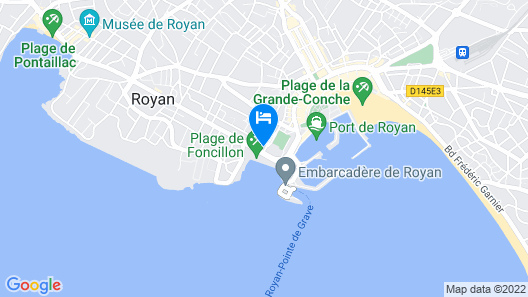 Best Western Hotel Royan Ocean Map