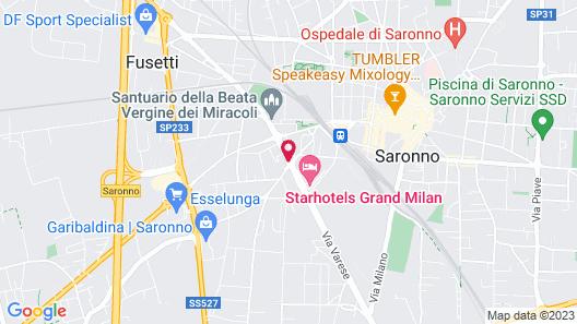 Starhotels Grand Milan Map