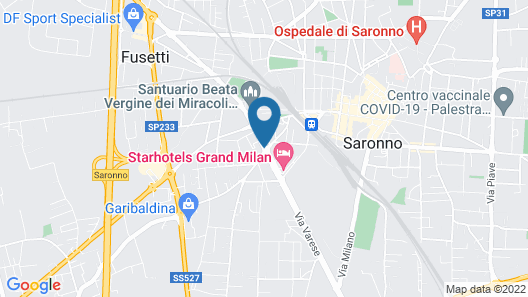 Starhotels Grand Milan Map
