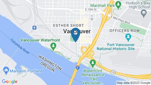 Hilton Vancouver Washington Map