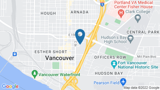 Comfort Inn & Suites Vancouver Downtown City Center Map
