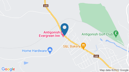 Antigonish Evergreen Inn Map