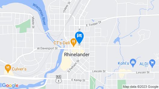 Days Inn & Suites by Wyndham Rhinelander Map