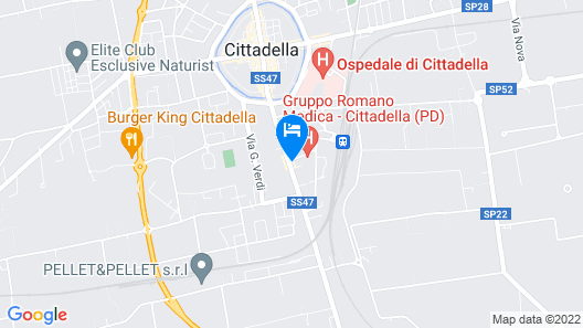 2 Steps From the Walls, Station and Cittadella Hospital Map