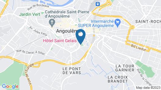 Hotel Angoulême Le Saint Gelais Map