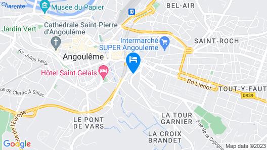 La Tour de Lavalette Map