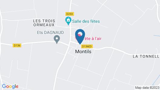 Le Relais de Montils Map