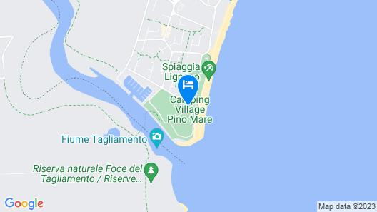 Camping Village Pino Mare  Map
