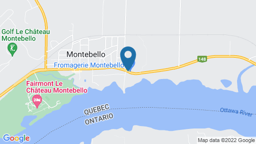 Auberge Montebello Map