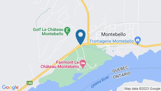 Fairmont Le Chateau Montebello Map