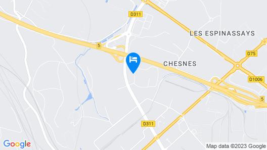 Kyriad Lyon Est – Saint Quentin Fallavier Map