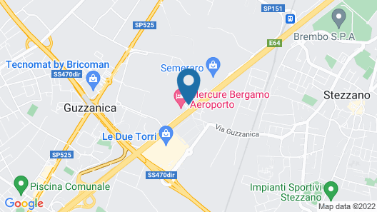 Mercure Bergamo Aeroporto Map