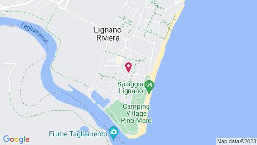 Flat in Lignano Map