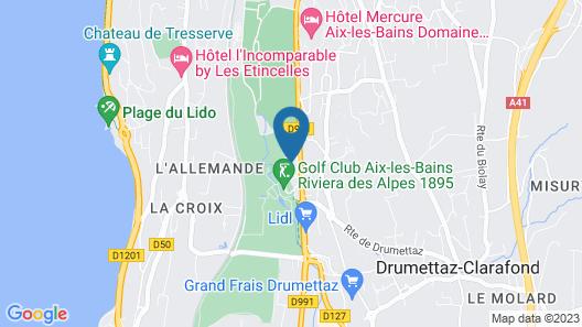 Campanile Aix Les Bains Map