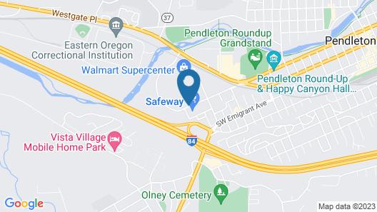 Oxford Suites Pendleton Map