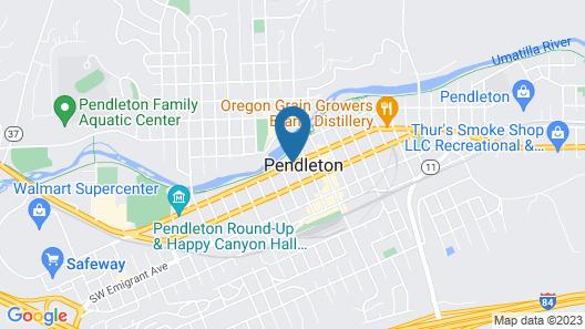Americas Best Value Inn Pendleton Map