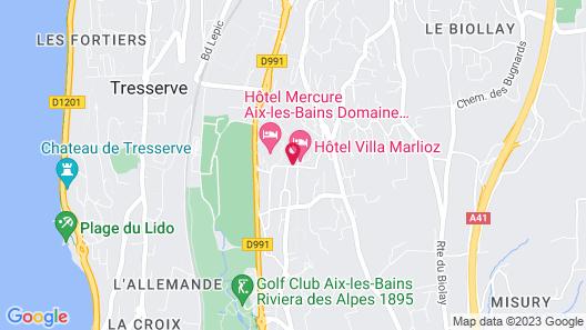 Hôtel Vacances Bleues Villa Marlioz Map