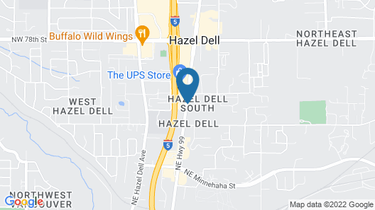 Quality Inn And Suites Vancouver Map