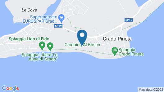Camping Al Bosco Map
