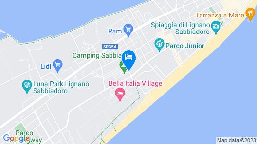 Camping Sabbiadoro Map