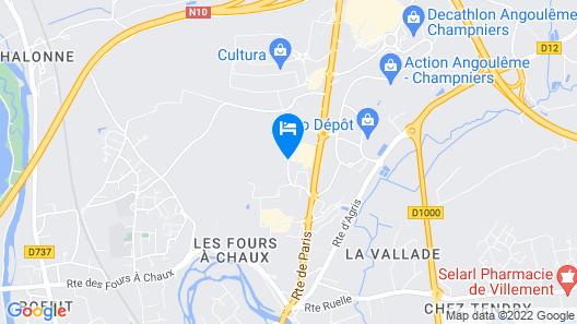 B&B Hotel Angoulême Map