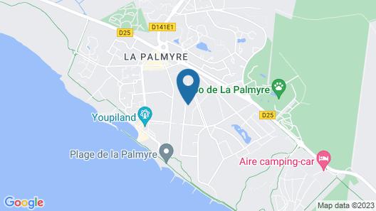 La Palmyre, au calme dans la pinède, Rez de jardin, proche de la mer, 2 chambres Map