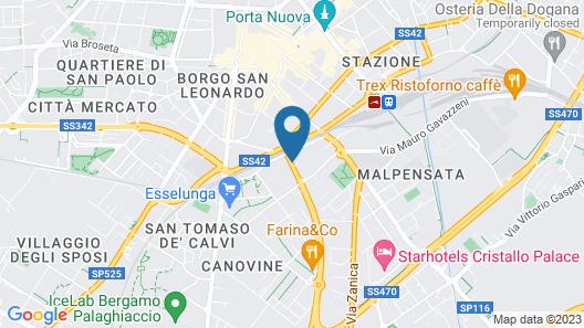 B&B Hotel Bergamo Map