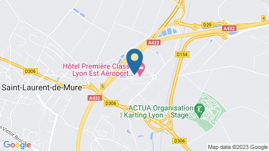 Premiere Classe Lyon Est - Aéroport Saint Exupéry Map