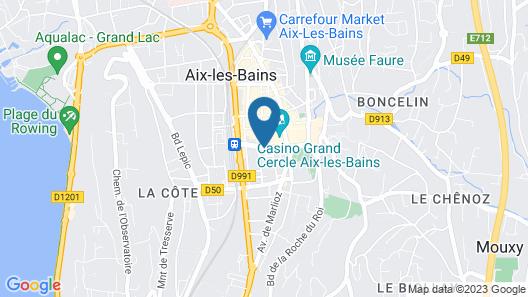 Golden Tulip Aix les Bains Map