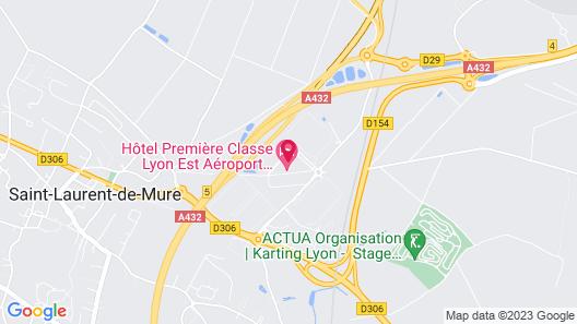 Campanile Lyon Est - Aéroport Saint Exupéry Map
